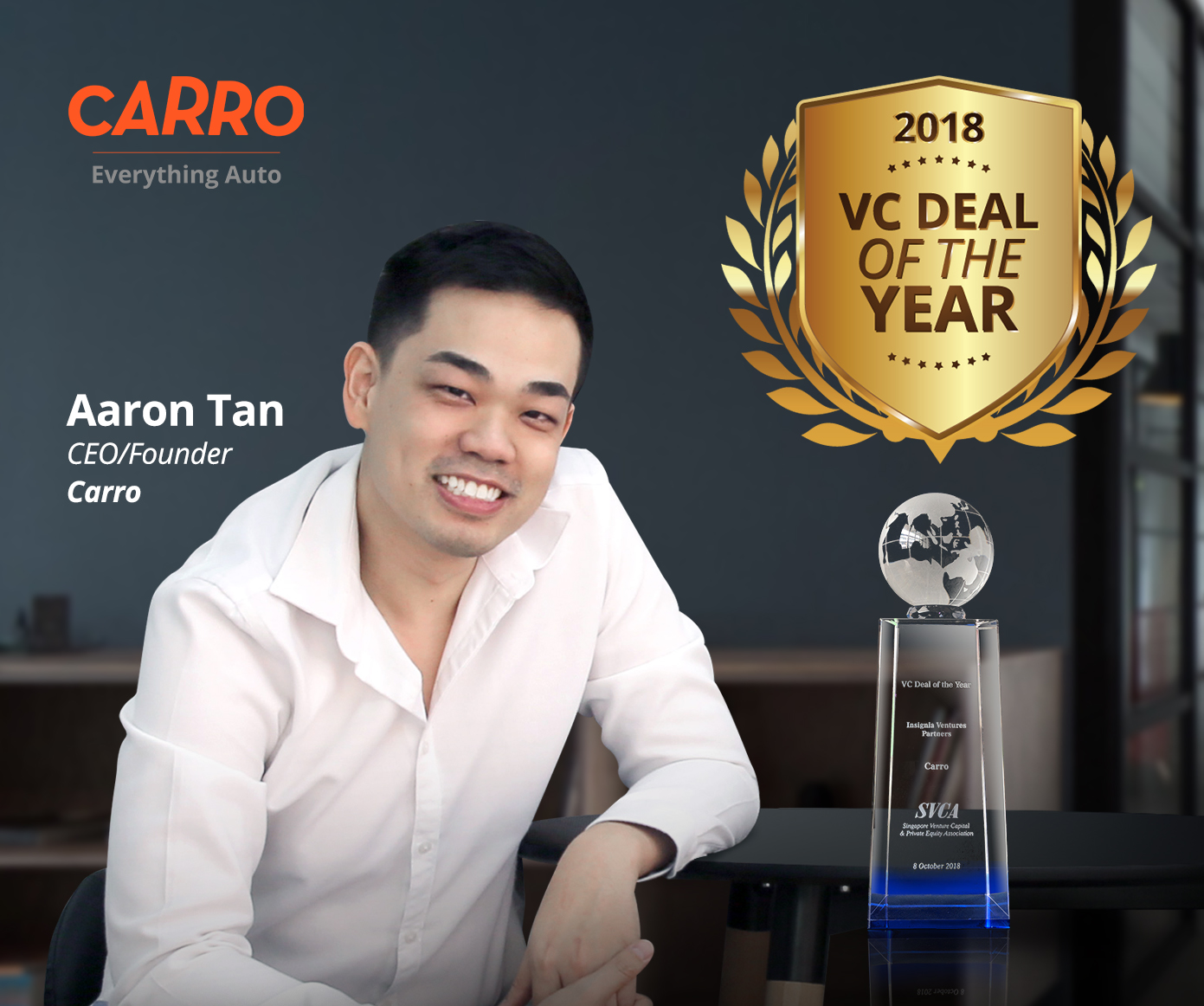Carro Bags the VC Deal of the Year Award 2018