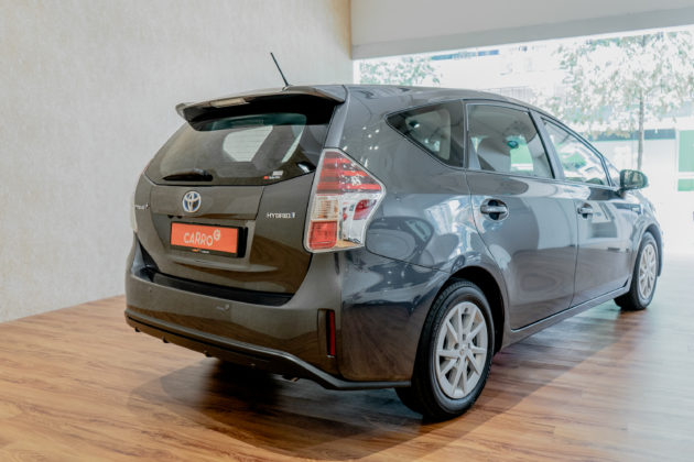 Back view of the Toyota Prius Plus