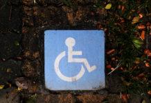 handicap sign in blue