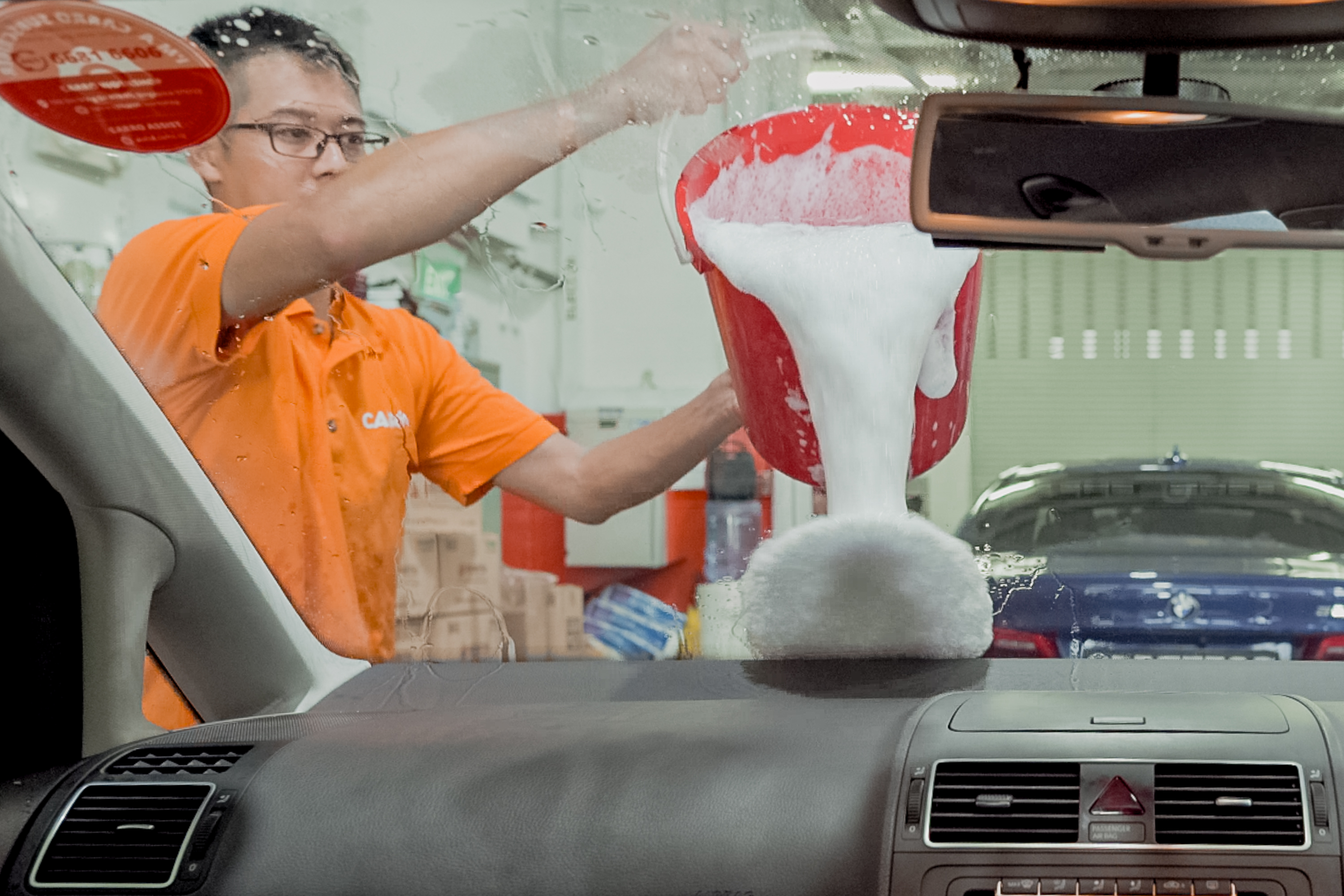 car wash before Chinese New Year